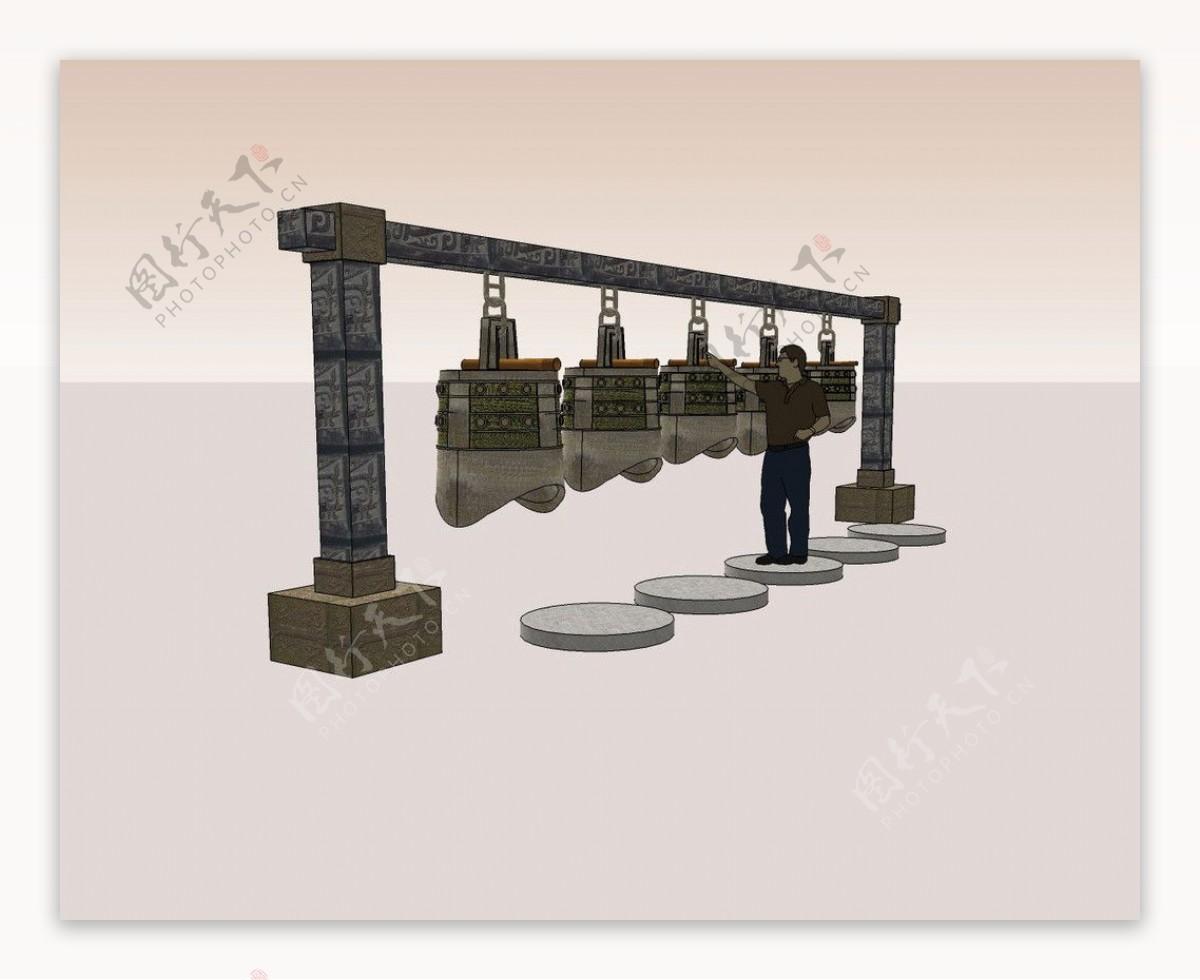 编钟3D模型