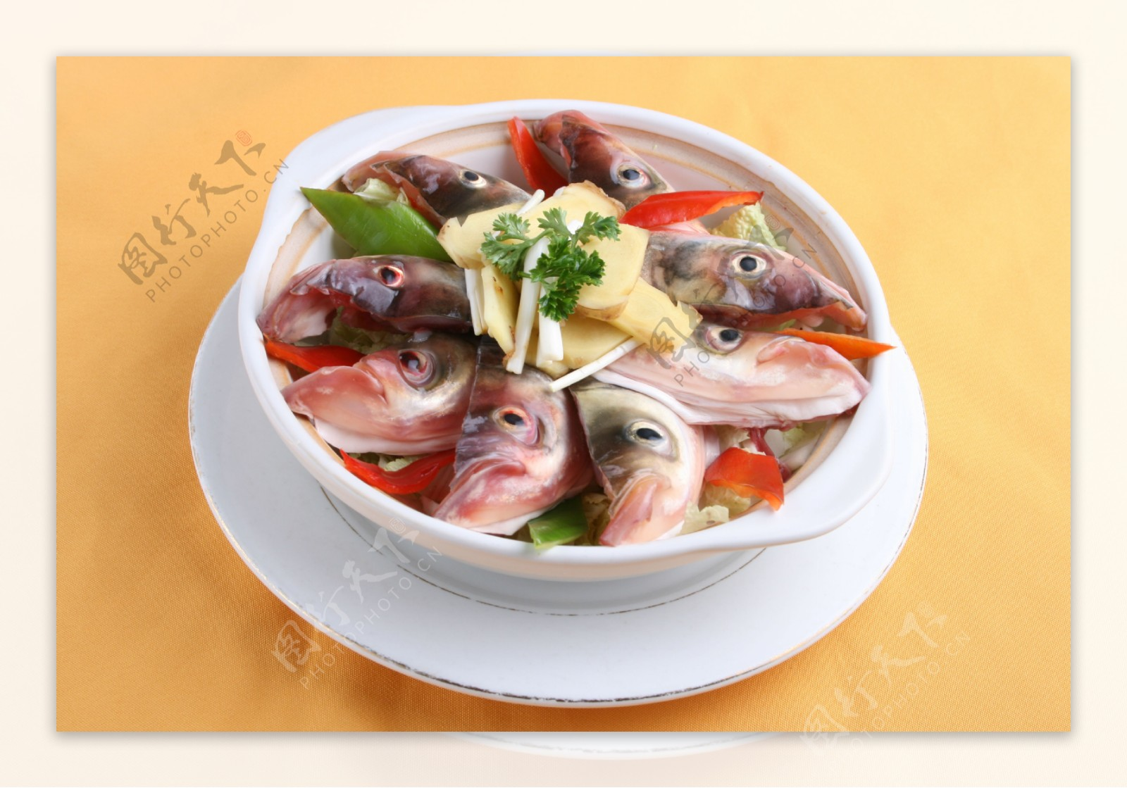 姜葱茸局鱼嘴图片