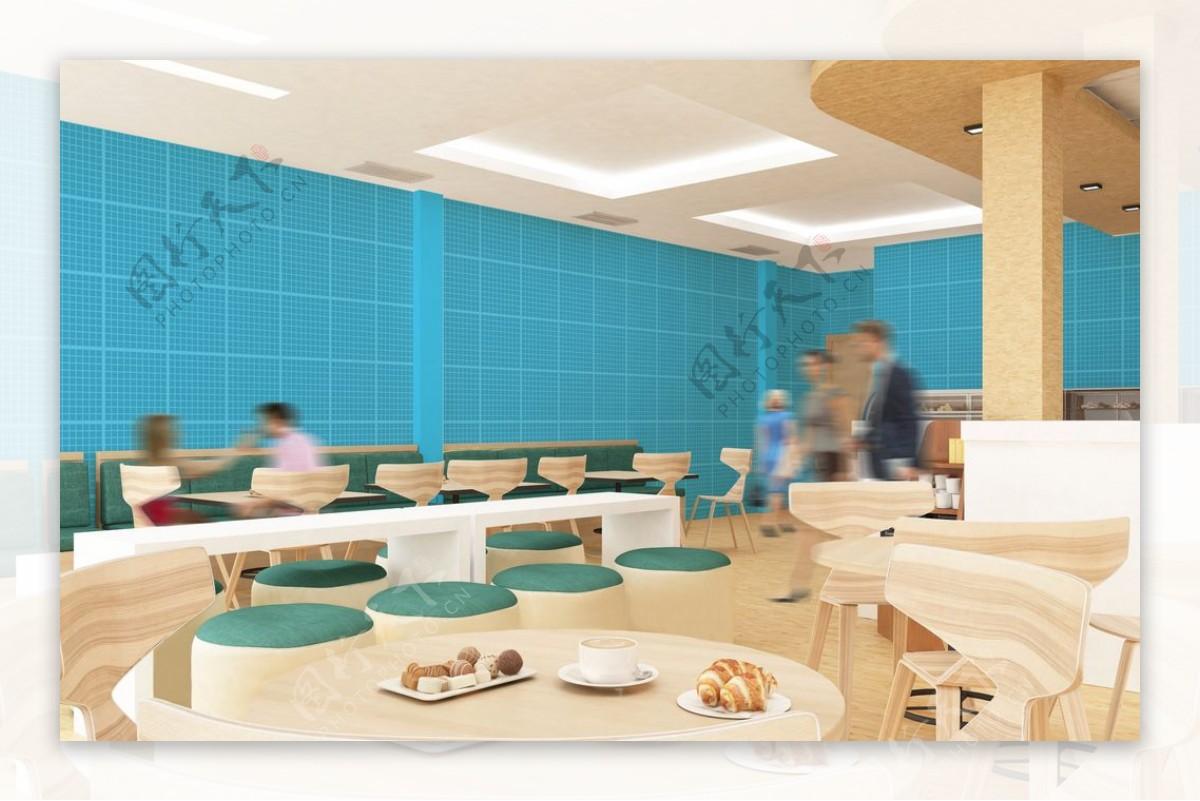 餐厅壁纸样机